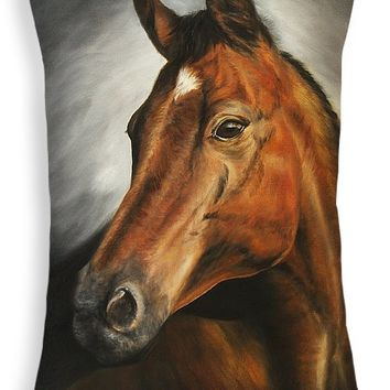"Horse Throw Pillow for Sale by Kathleen Wong - 20"" x 14"""