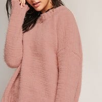 Distressed Oversized Sweater