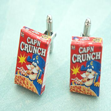 cereal box cuff links