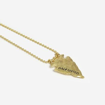 ONLINE EXCLUSIVE Arrowhead Necklace - Gold Ball Chain