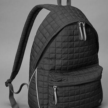 Gap Women Gapfit Quilted Backpack Size One Size - True black