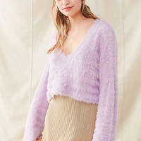 Urban Renewal Remade Gold Knit Sparkle Skirt | Urban Outfitters