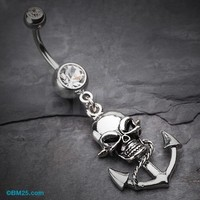 Pirate's Anchor Belly Button Ring