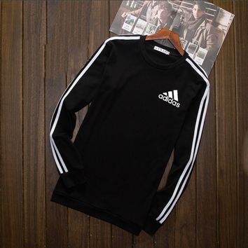 Adidas Fashion Long Shirt Crop Long Sleeve Top Tee Black I-YSSA-Z