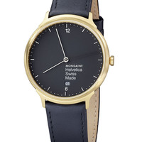 Helvetica No1 Light Watch Black/Gold by Mondaine