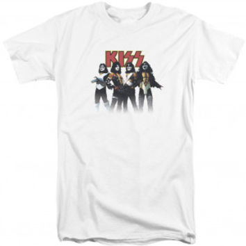 KISS Throwback Pose Adult T-shirt Tall - KISS - K - Artists/Groups - Rockabilia