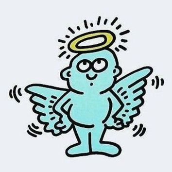 Lil' Angel, Offset Lithograph, Keith Haring