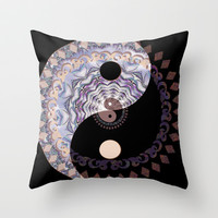 Harmony & Balance Throw Pillow by TreeofLifeShop