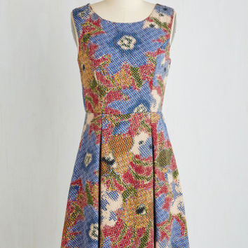 Mid-length Sleeveless A-line I Rest My Grace Dress in Stippling