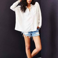 byCORPUS Oversized Square Button-Down Shirt-