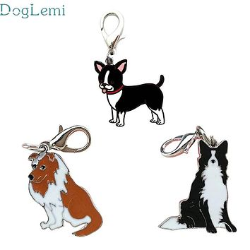 dog collar Doglemi Lovely Pets Dog Tag Disc Disk Pet ID Enamel Accessories Collar Necklace Pendant 906