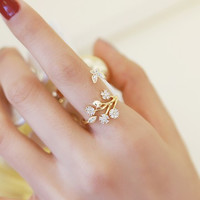 Shiny Gift New Arrival Jewelry 925 Silver Korean Stylish Diamonds Vintage Butterfly Ring [7587138695]
