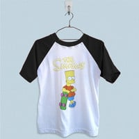 Raglan T-Shirt - The Simpsons Bart Simpsons