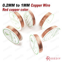 (22078)1 Roll 0.2MM to 1MM Copper Color Metal Copper Wire Very Strong Can Make Shape Diy Jewelry Making Findings Accessories