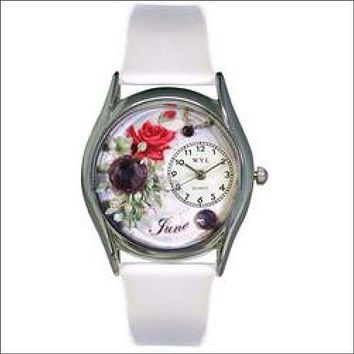 Birthstone Jewelry: June Birthstone Watch Small Silver Style