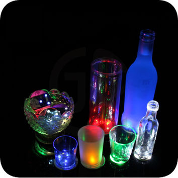 Manufacturers supply Home Furnishing KTV seven LED light bar coaster round coasters bottle stickers advertising