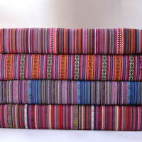 Colorful Stripy Fabric BOHO Bohemian fabric Upholstery fabric Home decor fabric Curtain Sofa Table cloth - 1/2 yard