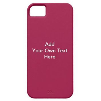 Burgundy Red with White Custom Text. Iphone 5 Cases from Zazzle.com