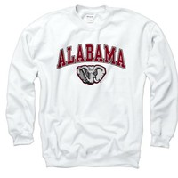 Alabama Crimson Tide Adult Midsize Logo Crewneck Sweatshirt Size: Medium