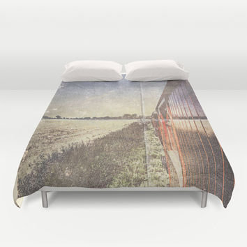 My folded escape Duvet Cover by HappyMelvin