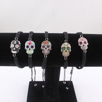 Skull Charm Adjustable Bracelet