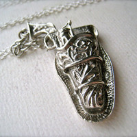 holster yer weapon necklace silver cowboy western by foamywader