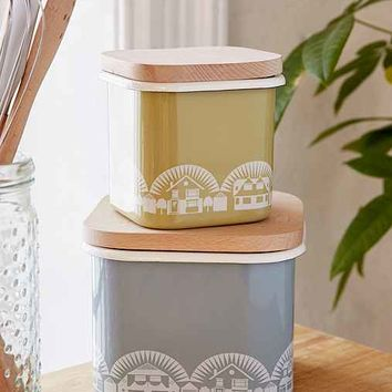 Medium Mini Modern Enamel Storage Jar