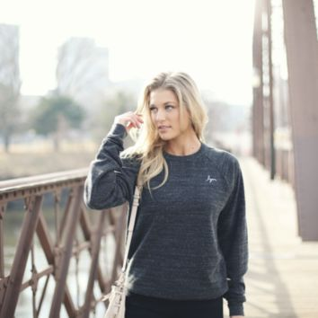 Dark Gray lym Cursive Crew Sweatshirt - Love Your Melon