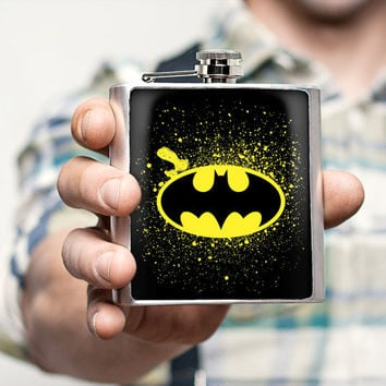 Mens flask Batman Flask Birthday Gifts For him For boyfriend Birthday Gifts for men Unique Gifts for men Birthday Gifts for best friend