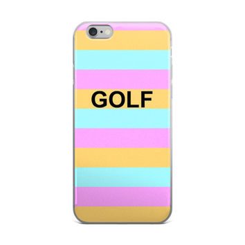 GOLF Tyler The Creator OFWGKTA Odd Future Golf Wang Green Pink & Orange iPhone 4 4s 5 5s 5C 6 6s 6 Plus 6s Plus 7 & 7 Plus Case