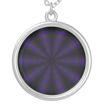 Orion's Wheel Round Pendant Necklace