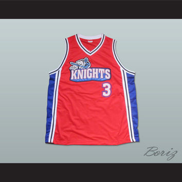 Lil' Bow Wow Calvin Cambridge 3 Los Angeles Knights Red Basketball Jersey Like Mike