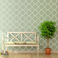 ON SALE Moroccan style trellis Wall Pattern - Vinyl Wall Decal - wall stickers set