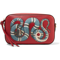 Gucci - Merveilles small printed textured-leather shoulder bag