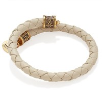 Powder Braided Leather Wrap