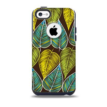 The Gold & Yellow Seamless Leaves Illustration Skin for the iPhone 5c OtterBox Commuter Case