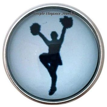 Blue Cheerleader Snap 20mm for Snap Jewelry