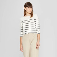 Women's Striped 3/4 Sleeve Boatneck T-Shirt - A New Day™