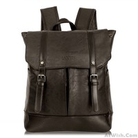 Original British Women Rucksack Leather Casual College Student Backpack only $37.99 -AtWish.com
