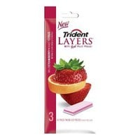 Trident Layers 3-pk Wild Strawberry and Tangy Citrus Gum 14-pieces
