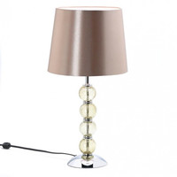 Glass Orb Table Lamp Set