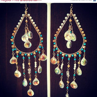 ON SALE CALYPSO Dea Bohemian Elegant Gypsy Dangle Chandelier Earrings