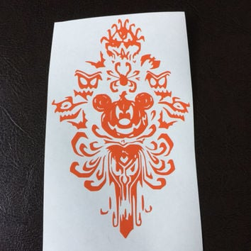 Mickey Pumpkin Haunted Mansion Decal Any Color Any Size Halloween Disney Lover