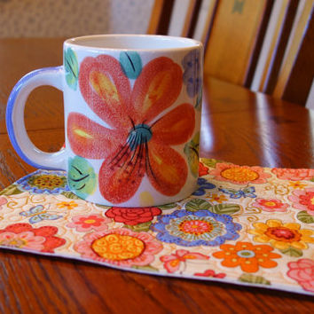 5 to choose from - Mug Rug Gift Sets!     Mug always included!     Perfect gift for mom