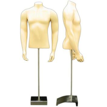 MN-151 Masculine Male Torso Form with Stand