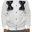 The Double X Varsity Jacket in Off White