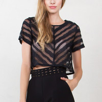 Right Directions Crop Top