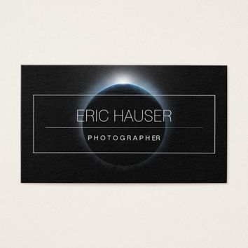Planet Earth Eclipse Photographer Business Cards