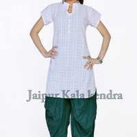 Patiala Dhoti Salwar Indian Ethnic Women Cotton Pant Dance Trouser ready to wear