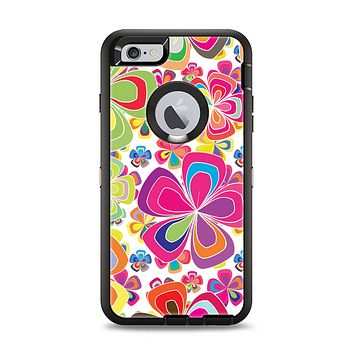 The Fun Colored Vector Flower Petals Apple iPhone 6 Plus Otterbox Defender Case Skin Set